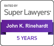 SuperLawyers John K. Rinehardt 5 years