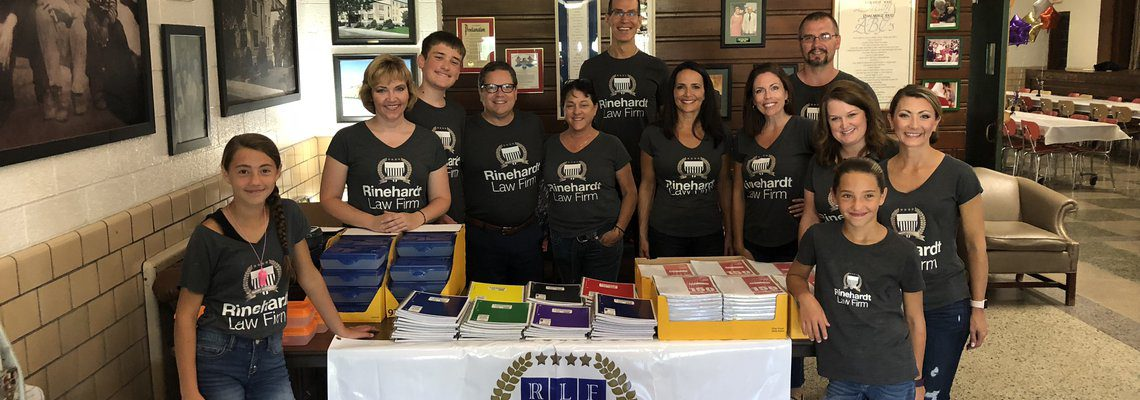 Rinehardt Law Group Providing School Supplies